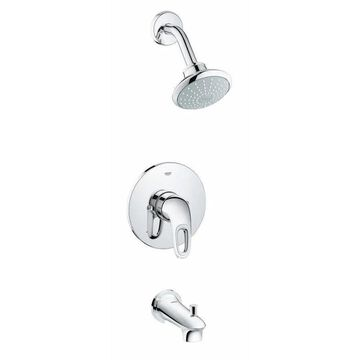 GROHE Eurostyle Chrome 1-Handle Bathtub and Shower Faucet (Valve Not Included) | 35062003