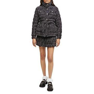 Maje Tweed Puffer Jacket