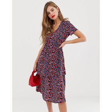 Y.A.S Casia layered printed midi dress