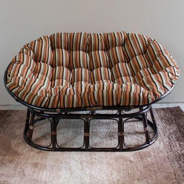 Blazing Needles 65-inch Chenille Double Papasan Cushion
