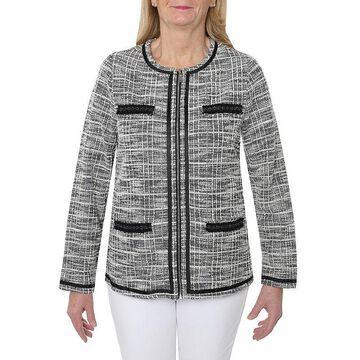 Cathy Daniels Happy Holidays Knit Shirt Jacket