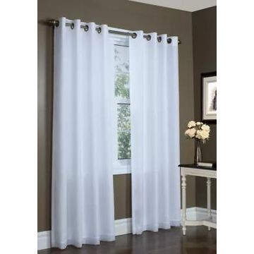 Commonwealth Home Fashions Rhapsody Lined Grommet Top Panel Curtain Pair -