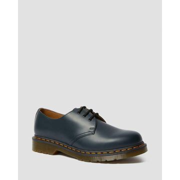Dr. Martens, Men's 1461 Smooth Leather Oxford Shoes in Navy, Size 14