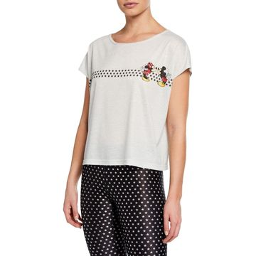 Mickey and Minnie Mouse Printed Top