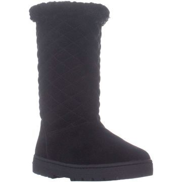 Style & Co. Womens Nickyy Leather Round Toe Mid-Calf Cold Weather Boots
