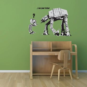 Style and Apply 'I Am Your Father' by Banksy Nylon Wall Decal