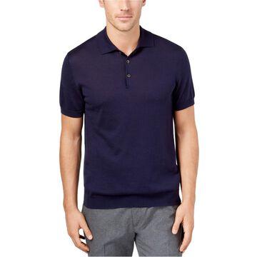 Tasso Elba Mens SS Rugby Polo Shirt