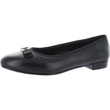 VANELi Womens Ursa Ballet Flats Faux Leather Slip On - Black