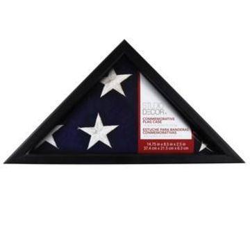 Black Commemorative Flag Case by Studio Decor