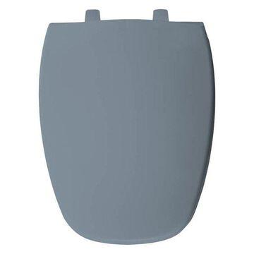 Bemis 1240205 304 Plastic Elongated Toilet Seat, Glacier Blue