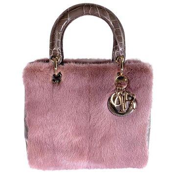 Dior Lady Dior Pink Mink Handbags