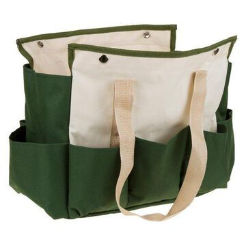Pure Garden Folding Garden Stool With Tool Bag, 9 Storage Pockets