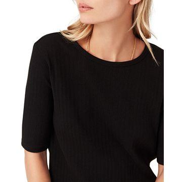 Sasha Crewneck Short-Sleeve Knit Top