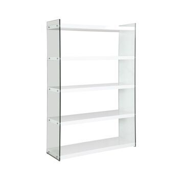 Chintaly Contemporary Gloss and Glass Book Case