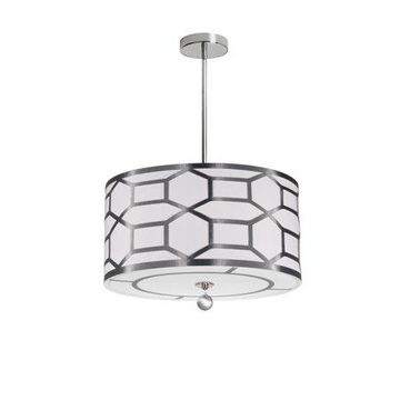 Dainolite 4 Light Pendant - Silver