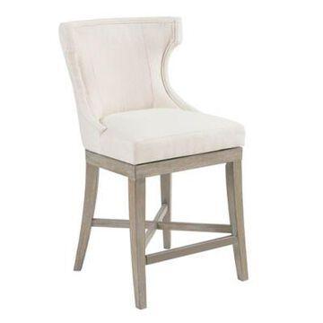 Madison Park Upholstered Barstool in Cream