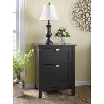 Bush Furniture Broadview 2 Drawer File Cabinet in Espresso Oak
