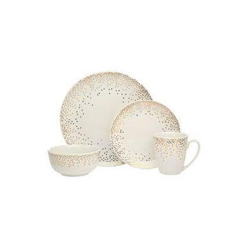 Godinger Alora Glam Dot 16-Piece Dinnerware Set -