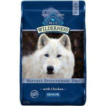 Blue Buffalo Wilderness Senior Chicken Recipe Grain-Free Dry Dog Food, 24-lb bag