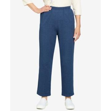 Alfred Dunner Petite Relax & Enjoy French Terry Straight Leg Short Length Pants