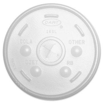 Dart, DCC16SLCT, Translucent Slotted Foam Cup Lids, 1000 / Carton, Translucent