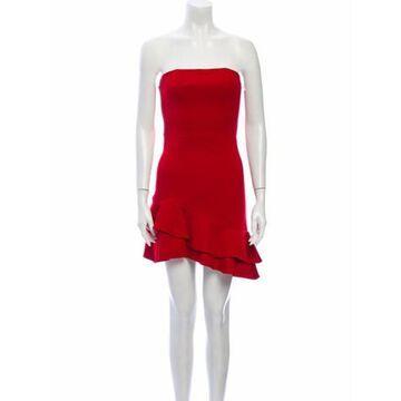 Strapless Mini Dress Red