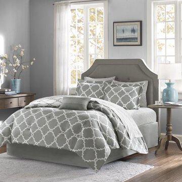 Home Essence Becker Reversible Bed in a Bag Bedding Set, Grey, King