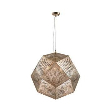 Worldwide Lighting Geometrics 5-Light Rose Gold Finish Stainless Steel Pendant Light