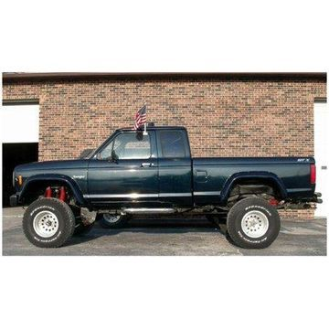 Bushwacker 83-92 Ford Ranger Cutout Style Flares 2pc 72.0/84.0in Bed - Black