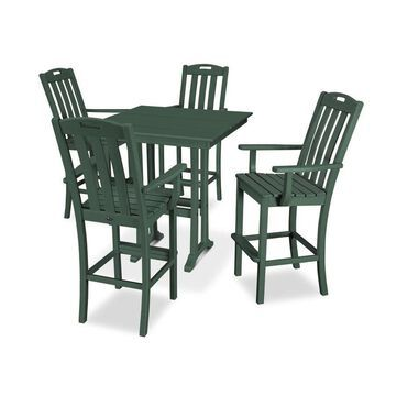 Trex Outdoor Furniture Yacht Club 5-Piece Green Frame Dining Patio Dining Set with Dining
