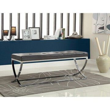 Benzara BM69638 Stylishly Compelling Bench, Black