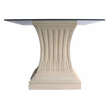 Anderson Teak Legacy Pedestal Dining Table in Natural Beige