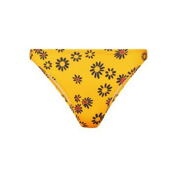 Solid & Striped - The Tati Floral-print Bikini Briefs - Yellow