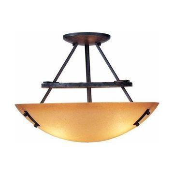 Volume Lighting V5343 Lodge 3 Light Semi-Flush Ceiling Fixture