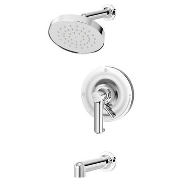 Symmons Museo Polished Chrome 1-Handle Bathtub and Shower Faucet