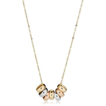 Fremada 14k Yellow Gold Seven Lucky Rings Necklace (adjustable to 17 or 18 inches)