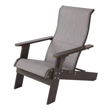 Mainstays Terra Bella Sling and Faux Wood Adirondack Chair, Gray
