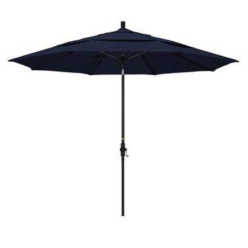 California Umbrella 11-ft. Sun Master Black Finish Patio Umbrella