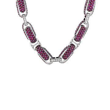 Roberto Coin 18K 43.75 Ct. Tw. Diamond & Ruby Necklace