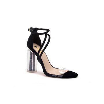 Qupid Womens Illusion-01ax Heeled Sandals