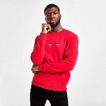 Fred Perry Men's Crewneck Sweatshirt Size Large 100% Cotton