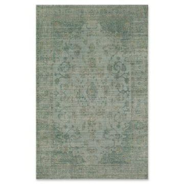 Rugs America Asteria Loomed 5' x 8' Accent Rug in Green