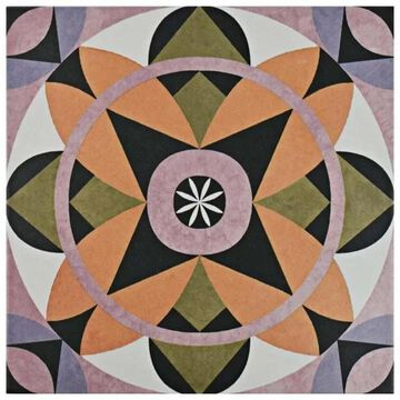 SomerTile 9.75x9.75-inch Oban Lesvos Porcelain Floor and Wall Tile (16 tiles/11.11 sqft.)