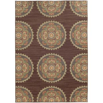 Style Haven Floral Medallions Indoor/Outdoor Area Rug (5'3 x 7'6) - 5'3