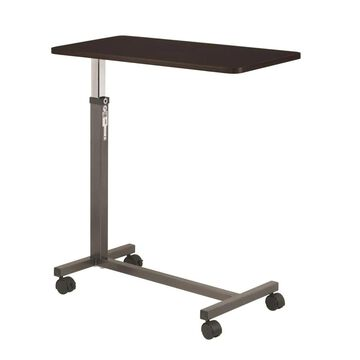 Drive Medical Non Tilt Top Overbed Table, Silver Vein | 13067