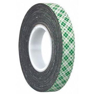 3M 4052 3M 4052 Double Coated Foam Tape 3'' x 6'', Black, 25PK