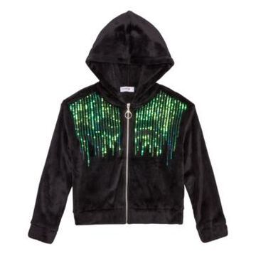 Beautees Big Girls Sequined Hoodie
