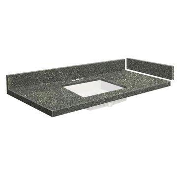 Transolid 43-in Greystone Quartz Single Sink Bathroom Vanity Top in Gray | VT43.25X22-1KU-4T-4