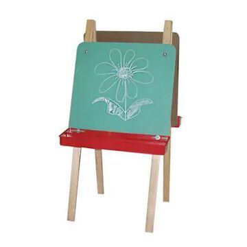 Wood Designs Art Double Adjustable Easel With Chalkboard, Birch | Quill