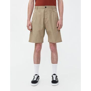 Gerald Poplin Short in Leather